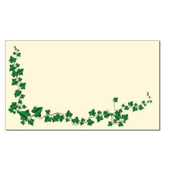 Ivy Border On Cream Place Card