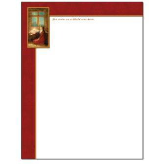 Jesus In The Manger Letterhead - 25 pack