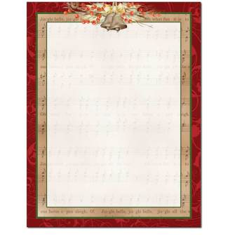 Jingle Bells Letterhead - 100 pack