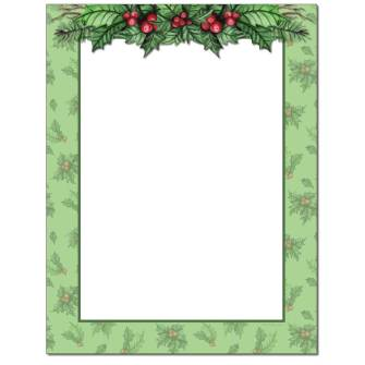 Jolly Holly Letterhead - 80 pack