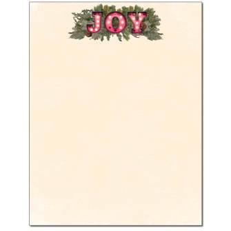 Joy Letterhead - 25 pack
