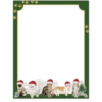 Kitty Cat Christmas Letterhead