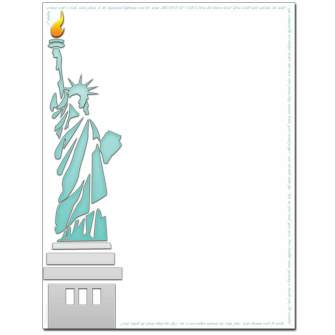 Lady Liberty Letterhead - 25 pack