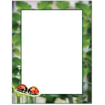 Ladybug Luv Letterhead - 25 pack
