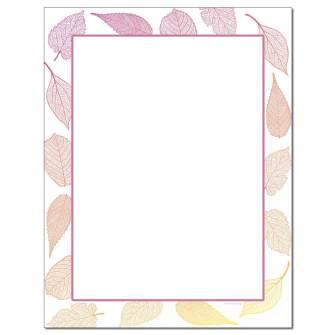 Leaves Letterhead - 100 pack