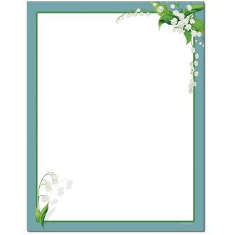Lily of the Valley Letterhead - 25 pack