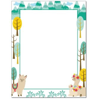 Llama Family Letterhead - 25 pack