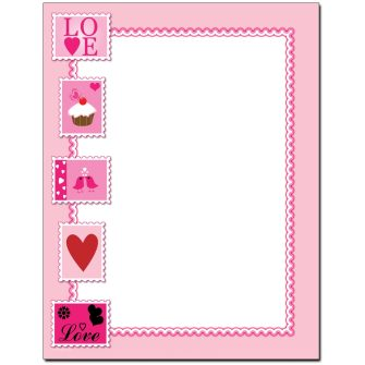 Love Stamps Letterhead - 25 pack