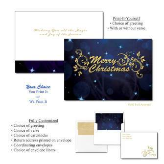 Magical Christmas Foil Greeting Cards