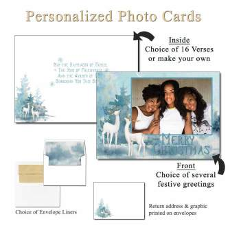 Majestic Personalized Photo Greeting Cards