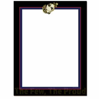 Marines Letterhead - 100 pack