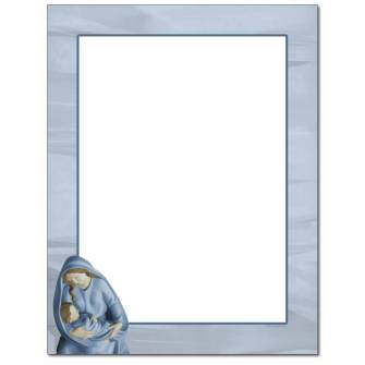 Mary With Baby Jesus Letterhead - 25 pack
