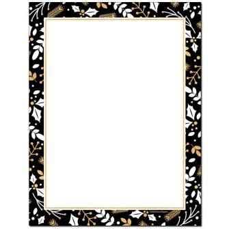 Merry Gold & Black Letterhead - 80 pack