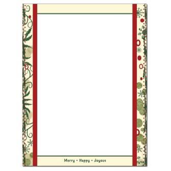 Joyous Holiday Letterhead - 100 pack