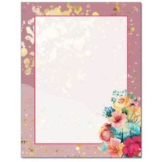 Messy Flowers Letterhead - 25 pack