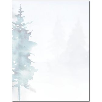 Misty Forest Letterhead