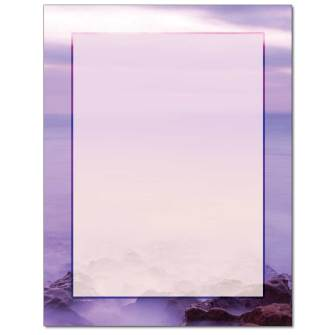 Misty Shore Letterhead - 25 pack