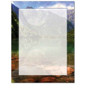 Mountain Lake Letterhead - 25 pack