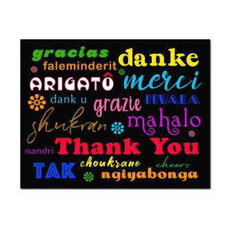 Multicultural Black Thank You Card