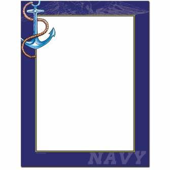 Navy Letterhead - 25 pack