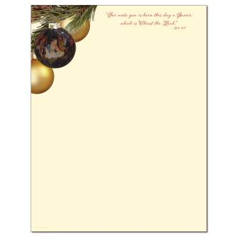 O' Holy Family Letterhead - 25 pack