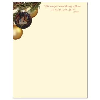 O' Holy Family Letterhead - 100 pack
