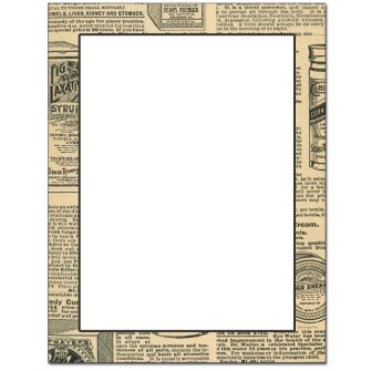 Old News Letterhead - 25 pack