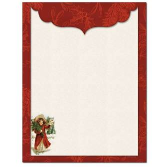 Old Time Christmas Letterhead - 25 pack