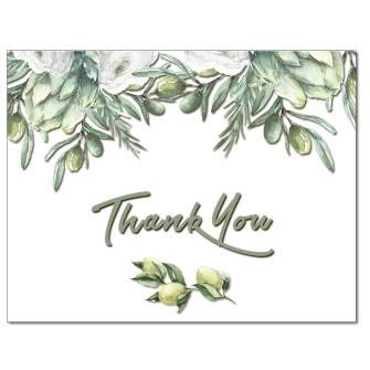 Olive Branches Thank You Card