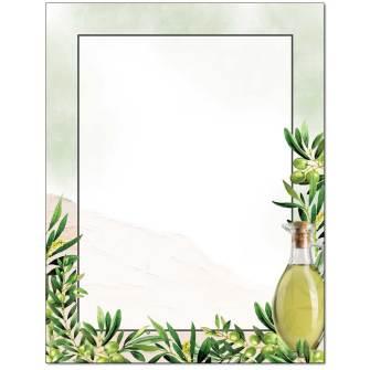 Olive Oil Letterhead - 25 pack