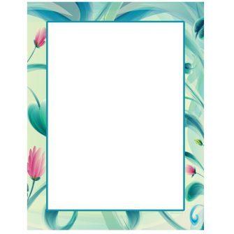 Painted Floral Letterhead - 100 pack