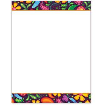 Paisley Pattern Letterhead - 25 pack