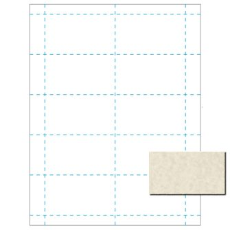 Blank Business Cards, 80lb