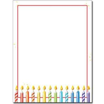Party Candles Letterhead - 25 pack