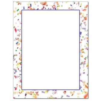 Party Confetti Letterhead - 25 pack