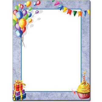 Party Favors Letterhead - 100 pack