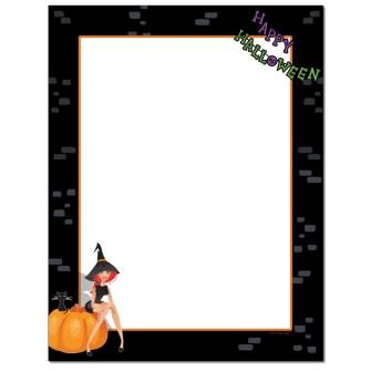 Party Witch Letterhead - 25 pack