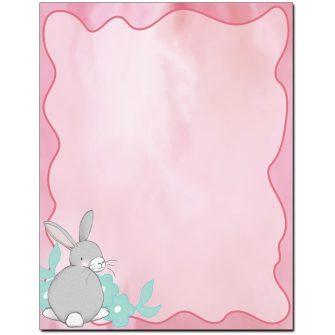 Pastel Bunny Letterhead - 25 pack