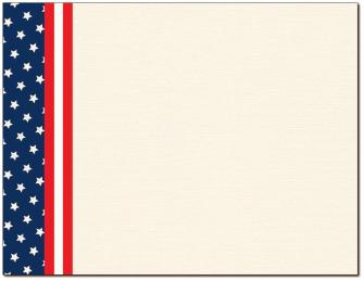 Patriotic Certificate - 100 Pack