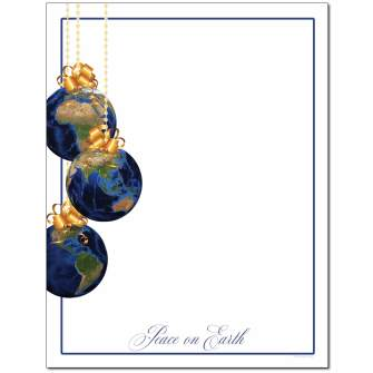 Peace On Earth Letterhead - 25 pack