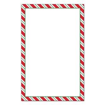 Peppermint Stripes Jumbo Card 48pk