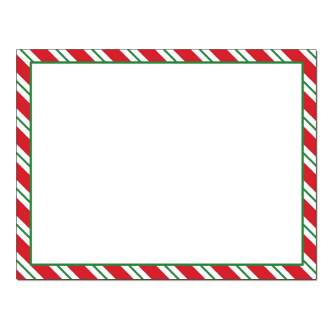 Peppermint Stripes Post Card 48pk