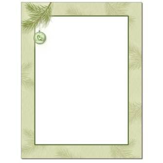 Pine Branch Letterhead - 100 pack