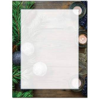Pine & Candles Letterhead - 25 pack