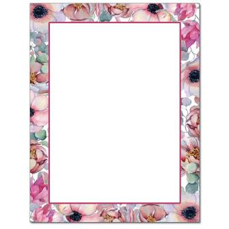 Pink Bouquet Letterhead - 25 pack