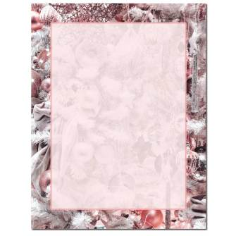 Pink Holiday Letterhead - 100 pack