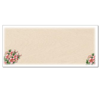 Pink Lilies Envelopes - 25 Pack