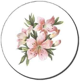 Pink Lilies Seals