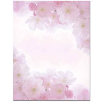 Pink Petals Letterhead - 25 pack