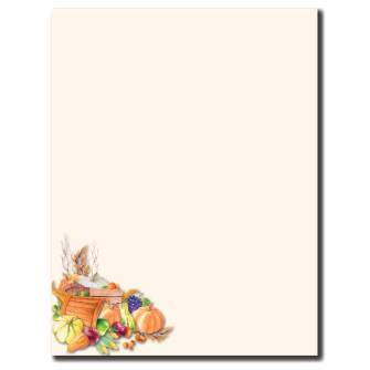 Plentiful Harvest Letterhead - 100 pack